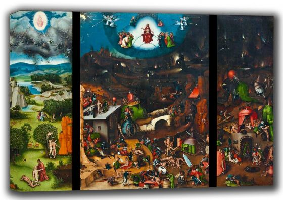 Bosch, Hieronymus: The Last Judgement. Fine Art Canvas. Sizes: A4/A3/A2/A1 (001443)